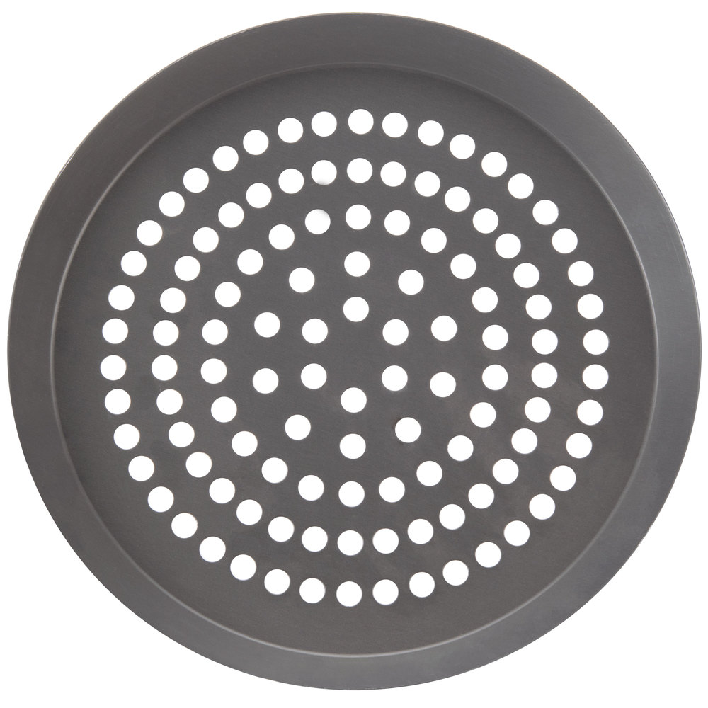 "American Metalcraft CAR11SPHC 11"" Super Perforated Hard Coat Anodized Aluminum CAR Pizza Pan"