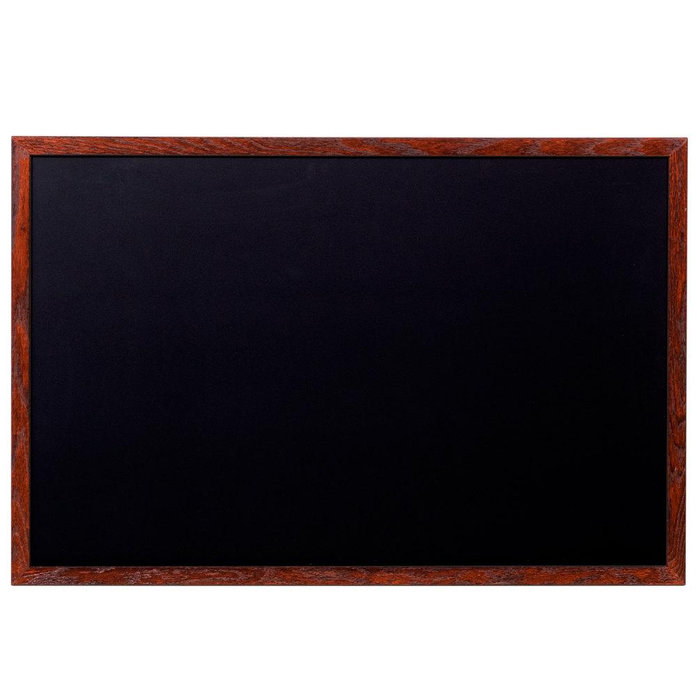 aarco 24 u0026quot  x 36 u0026quot  mahogany frame black chalk board