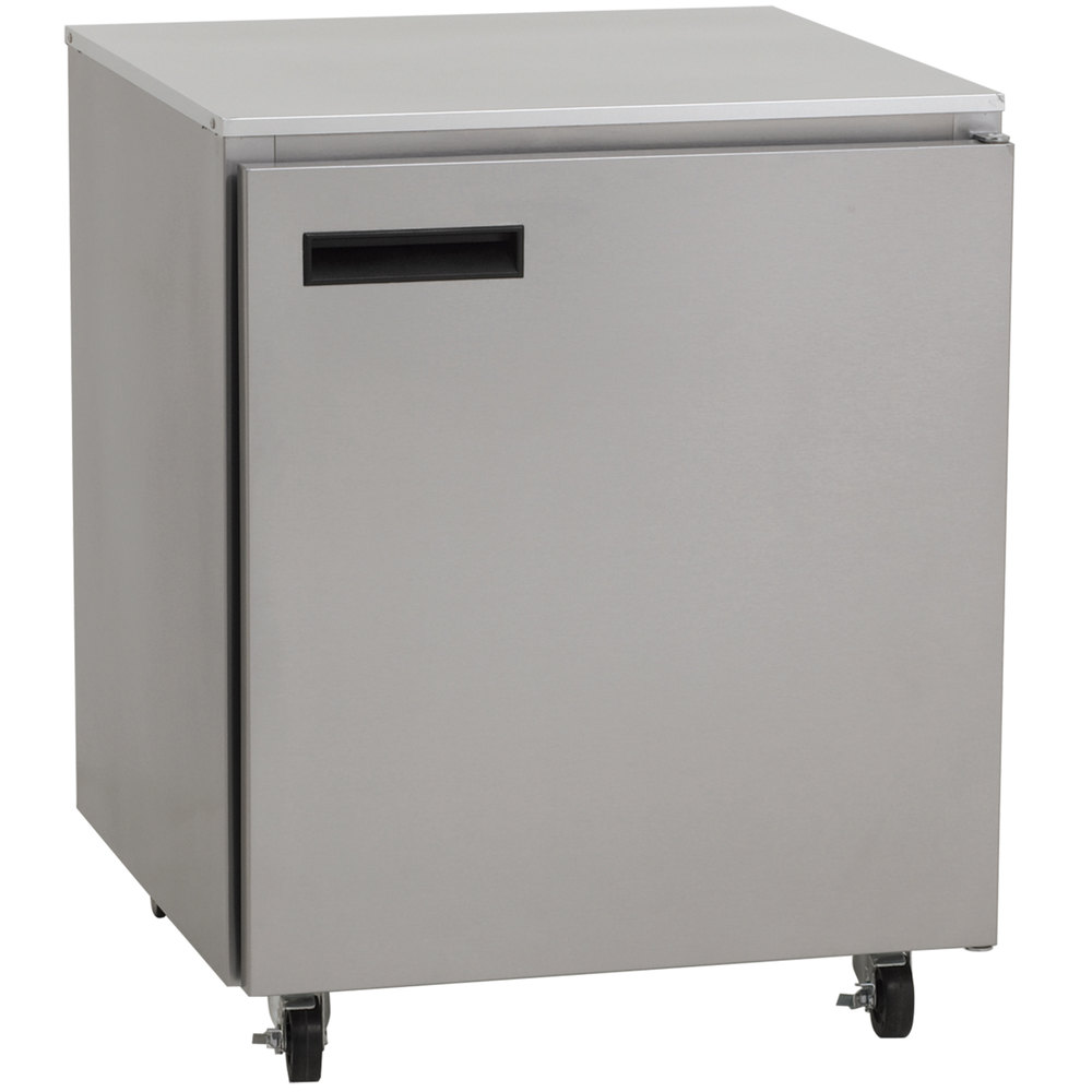 "Delfield 407-CA 27"" Undercounter Freezer with Casters - 5.7 Cu. Ft."