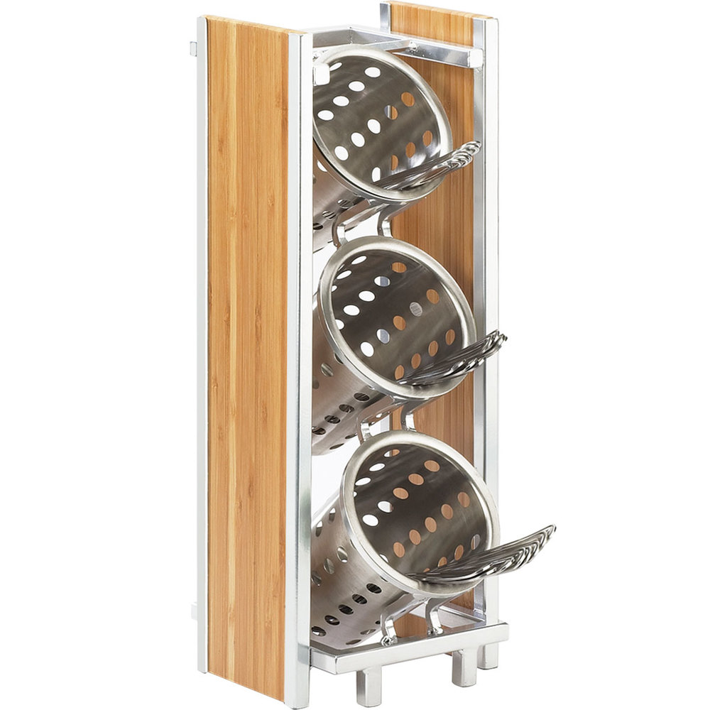 Cal-Mil 1283 Eco Modern Bamboo Three Tier Cylinder Holder