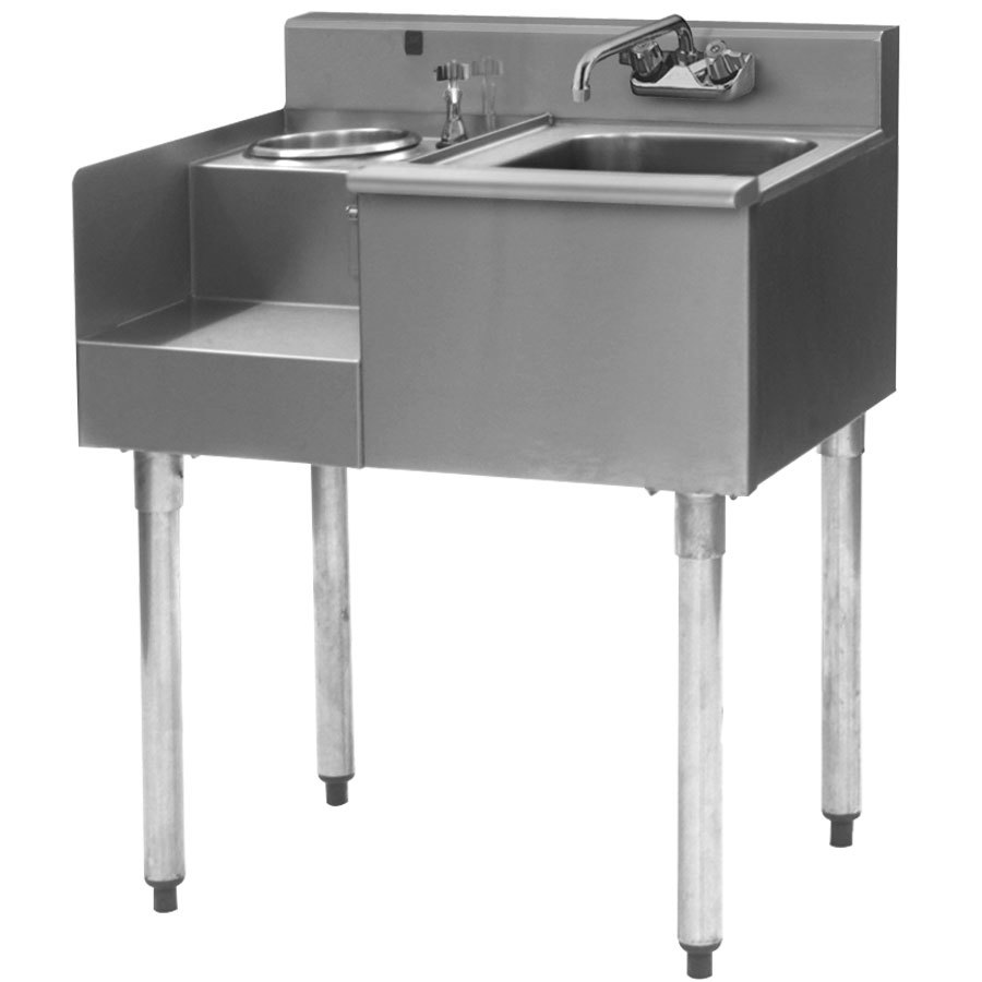 "Eagle Group BD24-18L 1800 Series 24"" Underbar Sink with Left Blender Module"