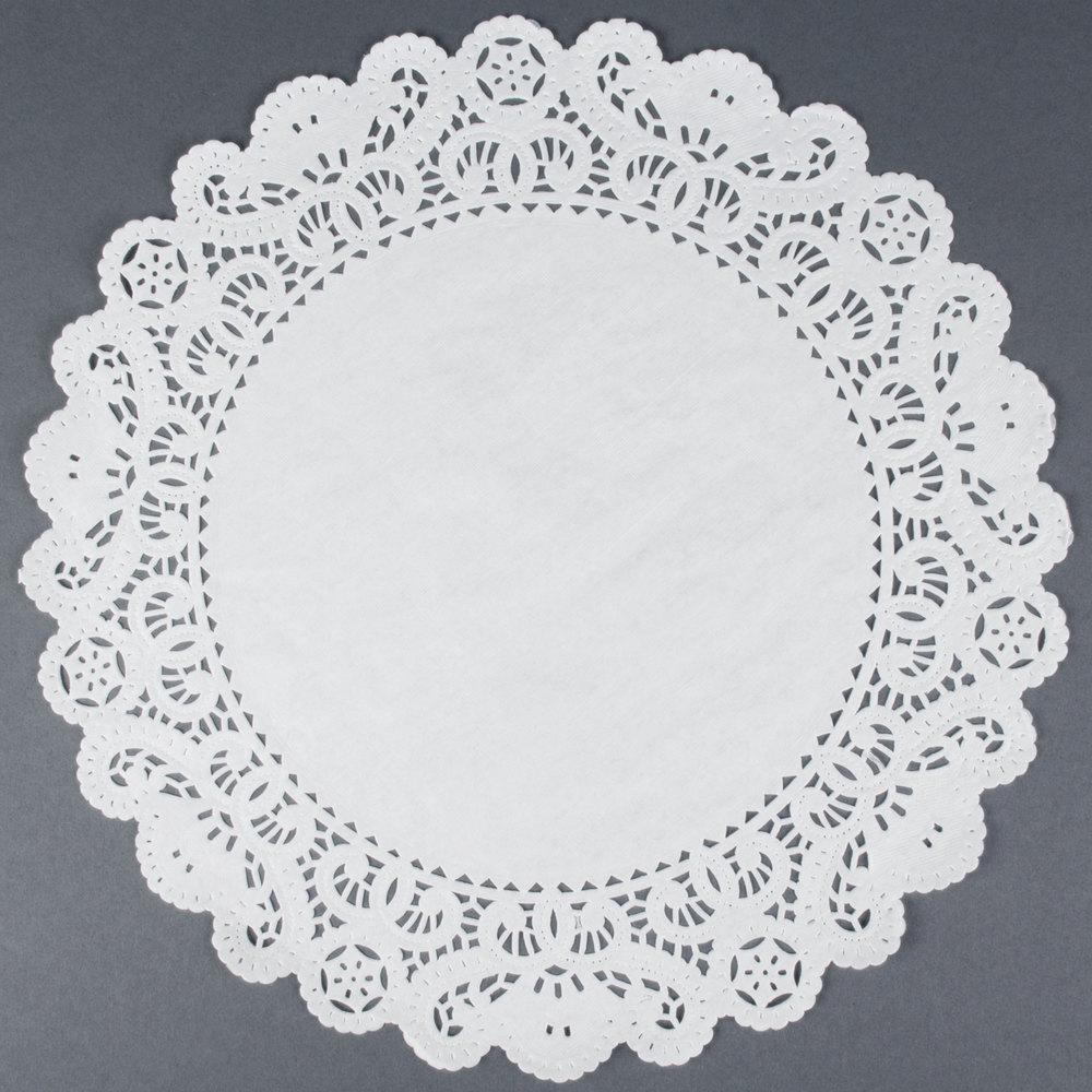 "8"" Lace Normandy Grease Proof Doilies 500 / Pack"