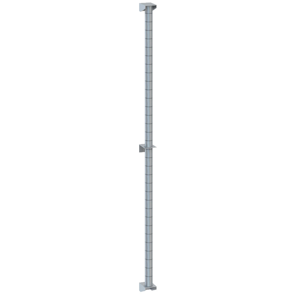 "Metro 54PDFS Super Erecta Stainless Steel Post-Type Wall Mount 54"" Post with Brackets"