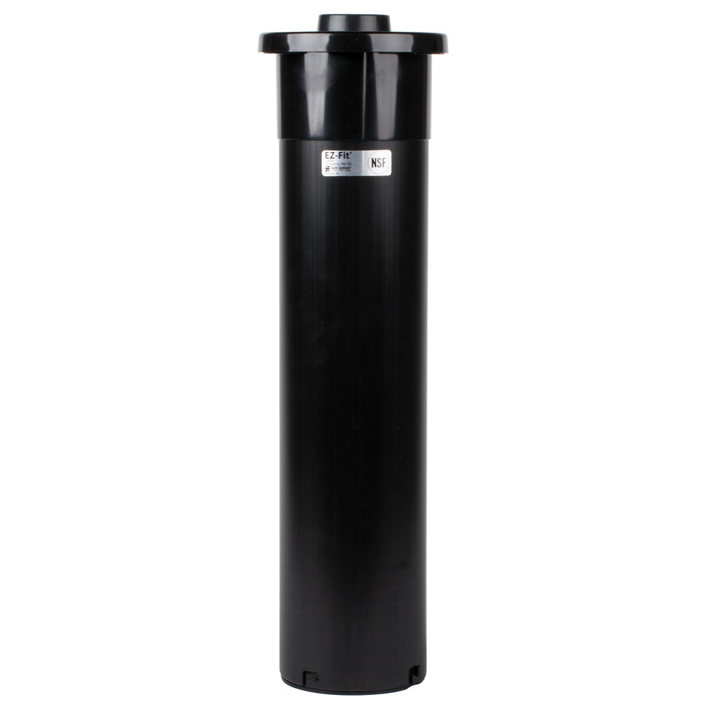 "San Jamar C2410CBK In-Counter One Size Fits All EZ-Fit 8 - 46 oz. Cup Dispenser with Black Gasket - 23 1/4"" Long"