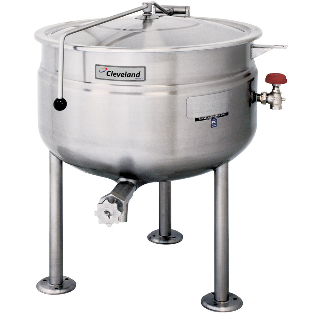 Cleveland KDL-80-F 80 Gallon Stationary Full Steam Jacketed Direct Steam Kettle