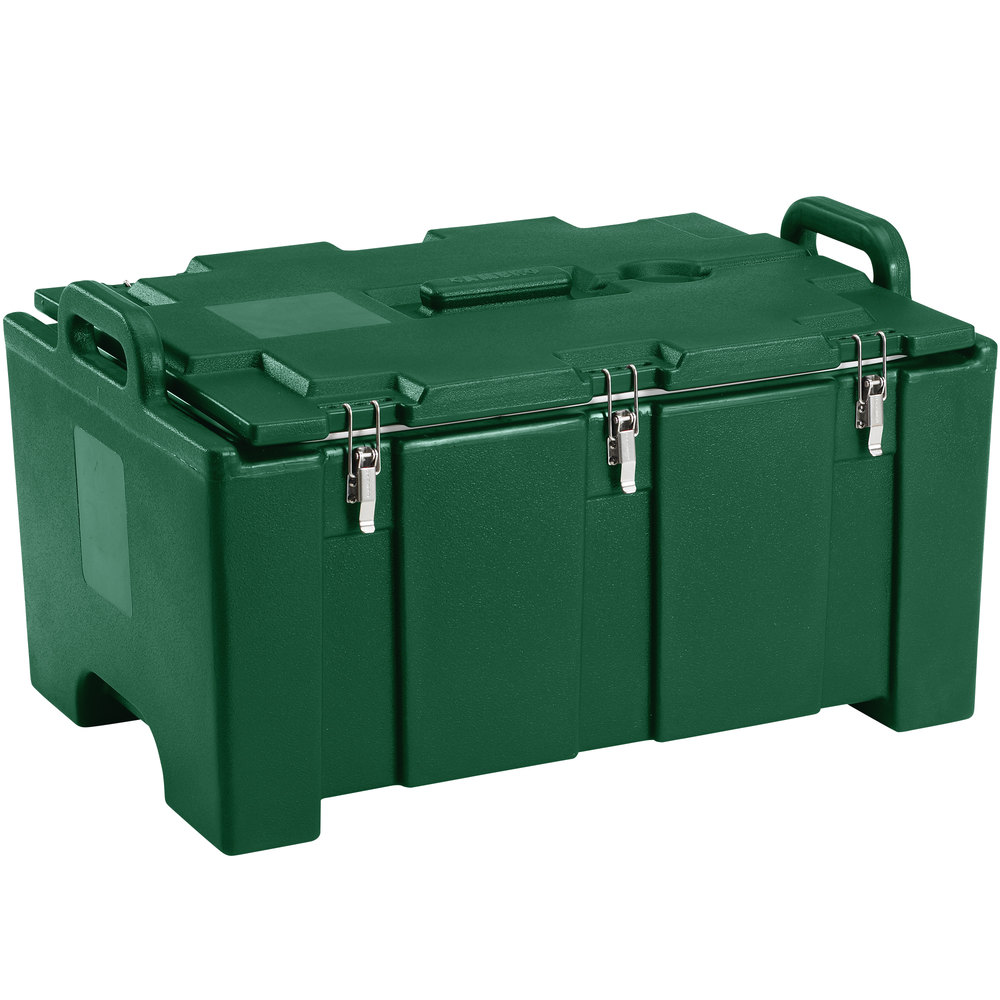 "Cambro 100MPC519 Camcarrier Green Top loading Pan Carrier with Handles for 12"" x 20"" Food Pans"