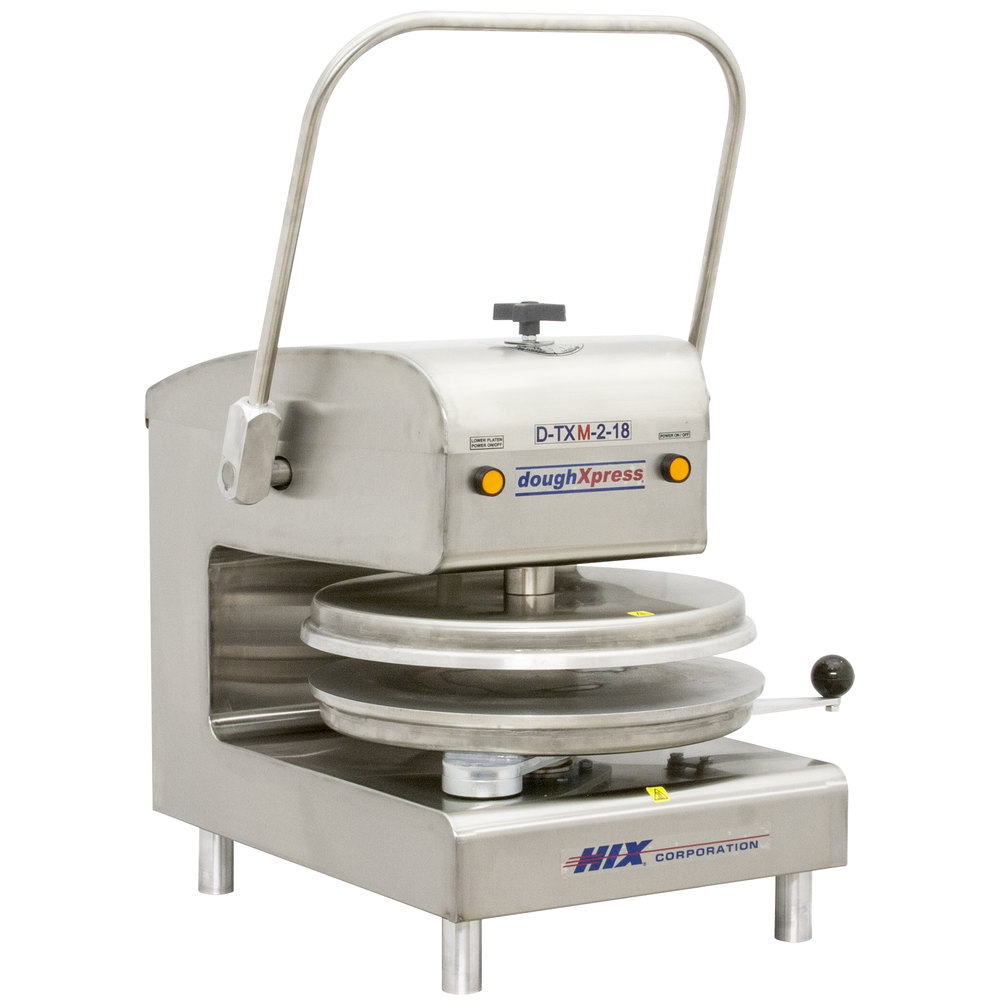 "DoughXpress D-TXM-2-18 Dual Heat Round Manual Tortilla Press 18"" - 220V"
