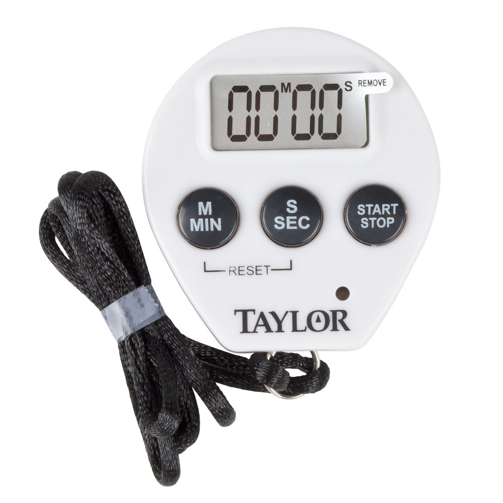 Taylor 5816N Chef's Professional Digital Timer / Stopwatch with Lanyard
