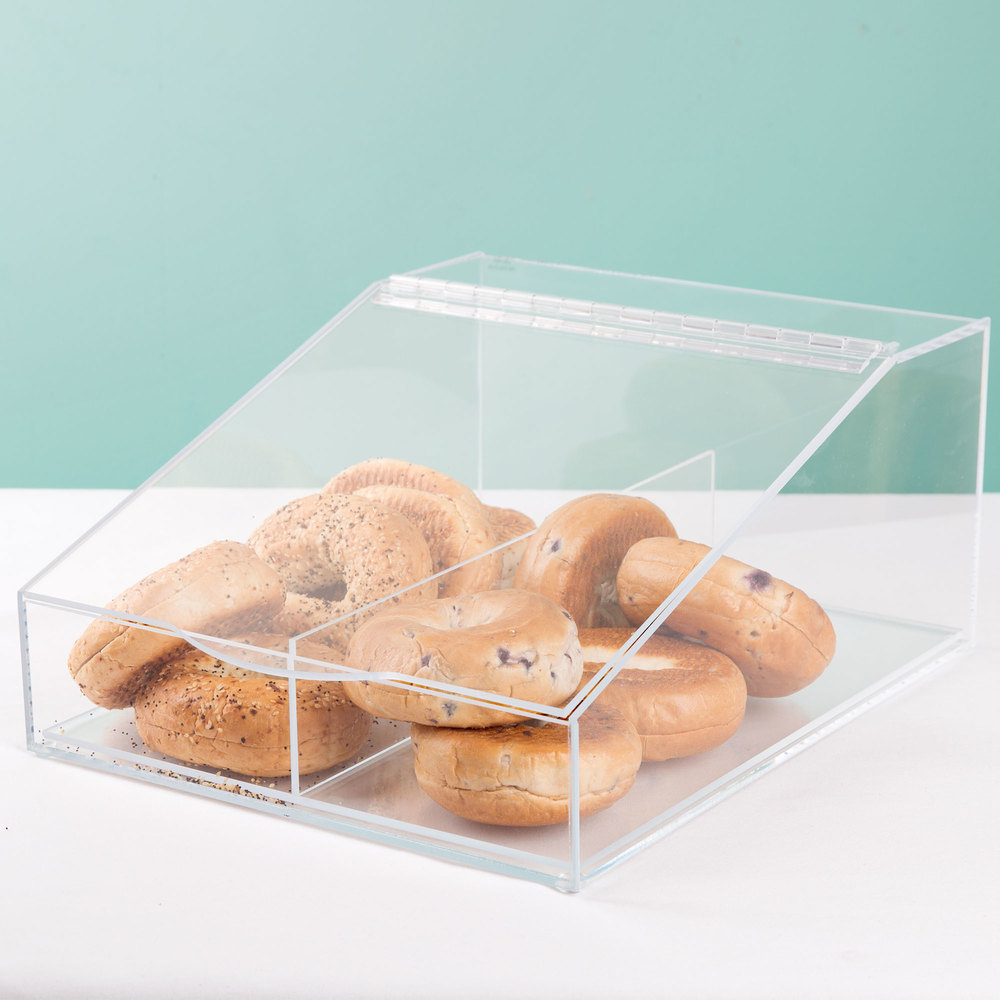 "Cal-Mil 123 Classic Acrylic Food Bin with Removable Divider - 13"" x 16"" x 7"""