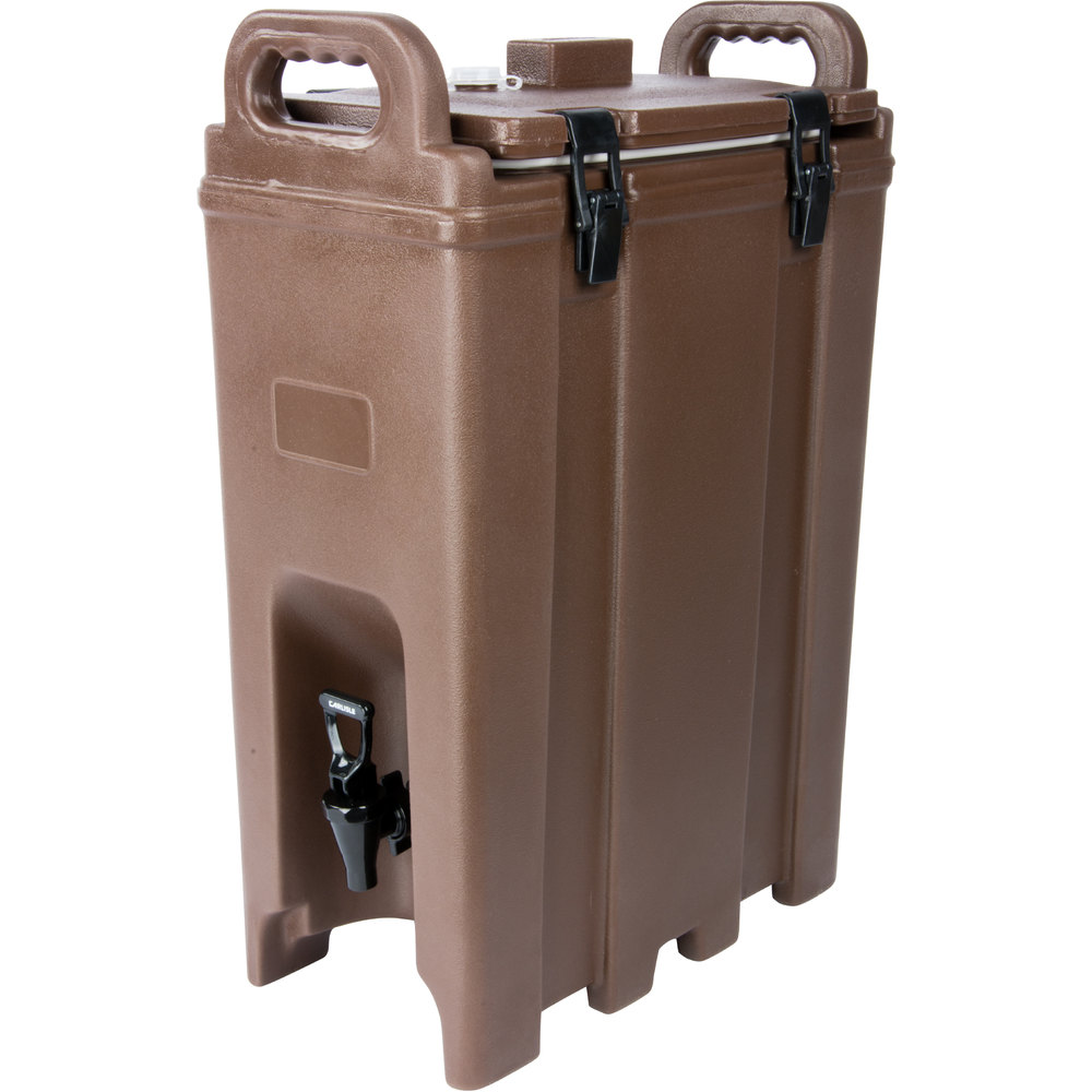 Carlisle LD500N01 Cateraide Brown 5 Gallon Insulated Beverage Dispenser