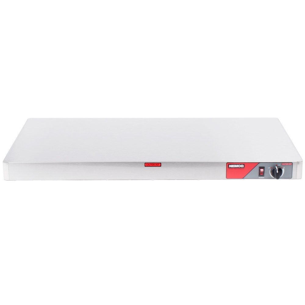 "Nemco 6301-36-SS 36"" Heated Shelf Warmer with Stainless Steel Sides - 120V"