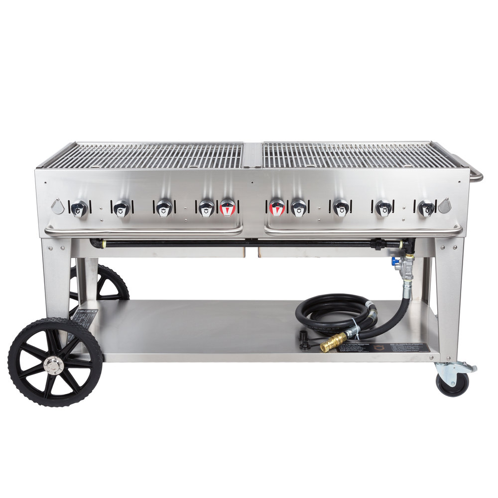 Crown verity mcb 60 natural gas portable outdoor bbq grill charbroiler