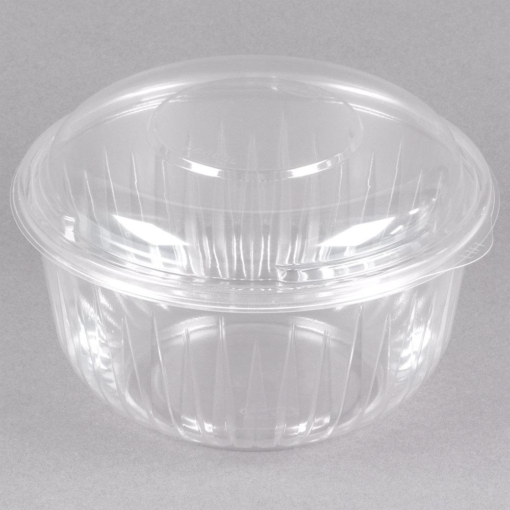 Dart C48bcd Presentabowls 48 Oz Clear Plastic Bowl With