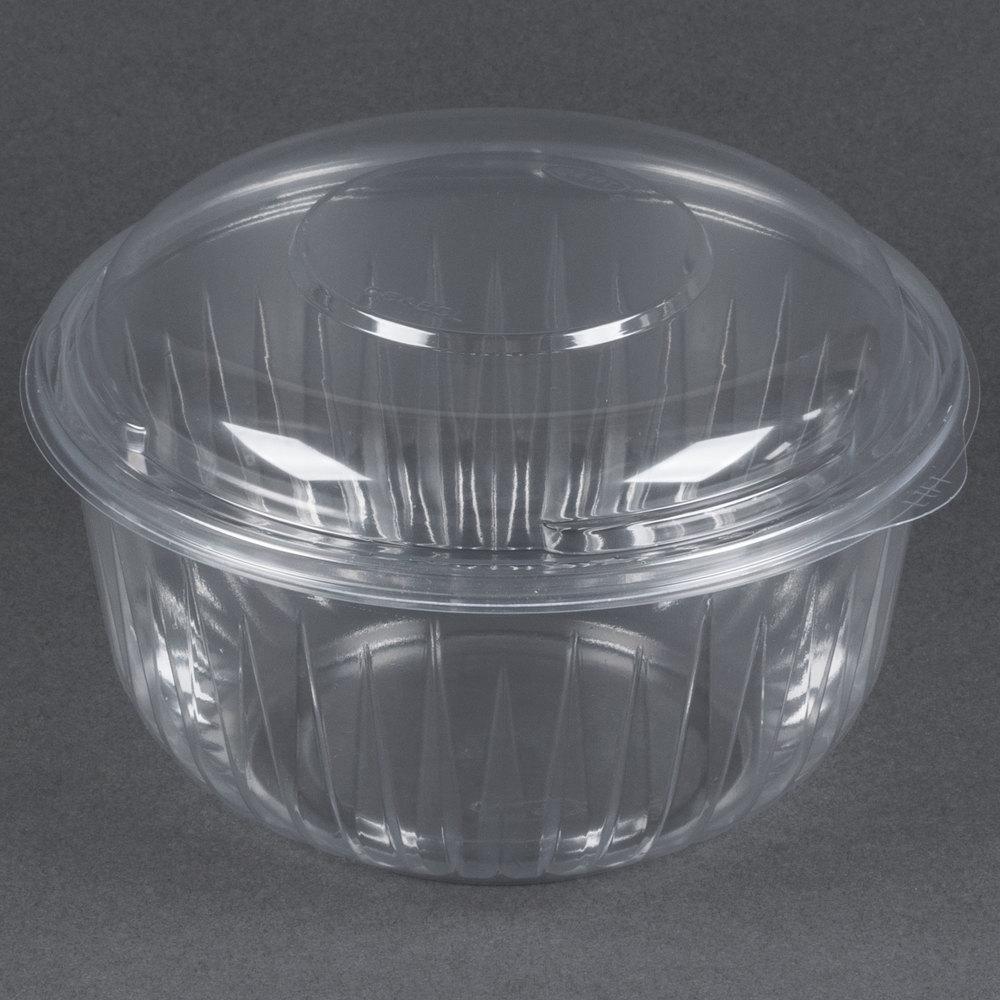 Dart Solo C48BCD PresentaBowls 48 oz. Clear Plastic Bowl ...