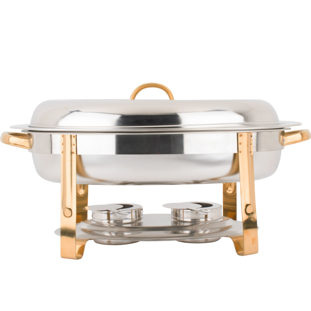 6 quart chafing dish 6 qt chafing dish with gold accent. Black Bedroom Furniture Sets. Home Design Ideas