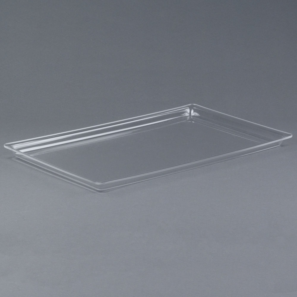 "Cal-Mil 325-12-12 12"" x 20"" Shallow Clear Bakery Tray"