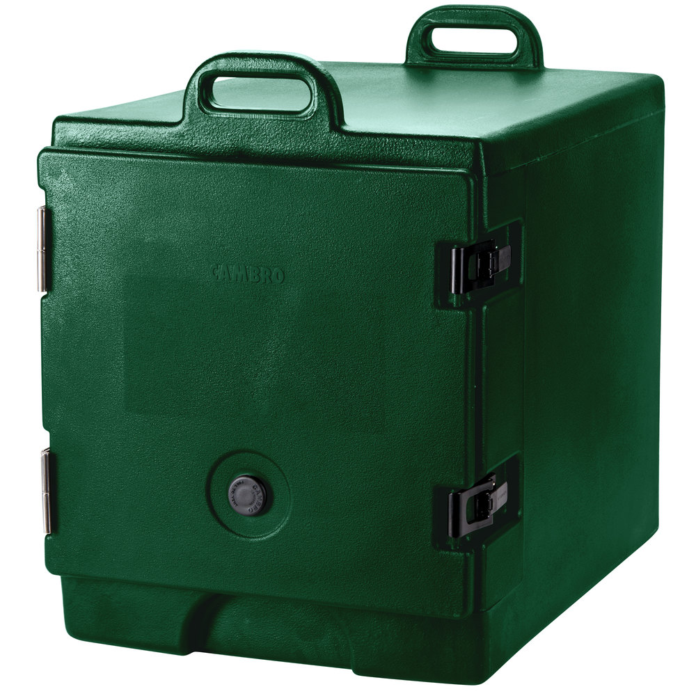 "Cambro 300MPC519 Green Camcarrier Pan Carrier with Handles - Front Load for 12"" x 20"" Food Pans"