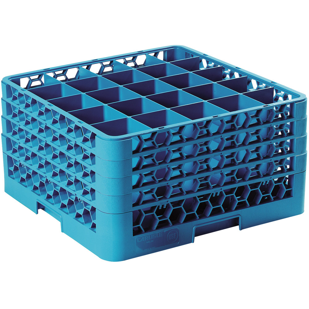 Carlisle Rg25 414 Opticlean 25 Compartment Glass Rack With