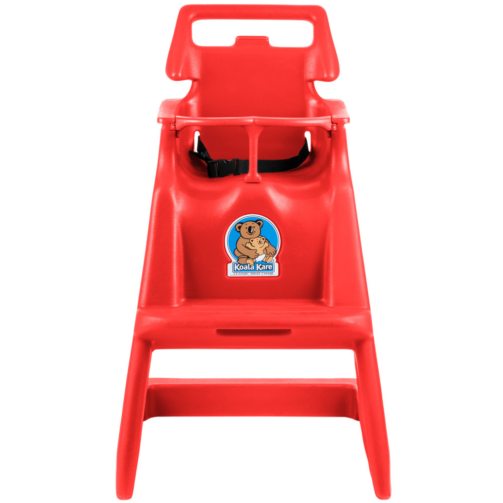 Koala Kare KB103-03 Classic High Chair with Wheels - Red
