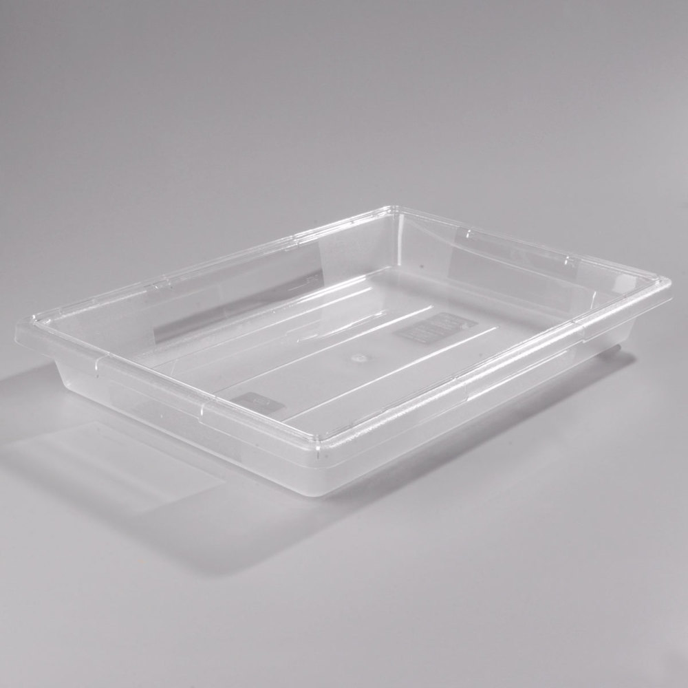 "Clear Carlisle 1062007 StorPlus Food Storage Box - 26"" x 18"" x 3 1/2"""