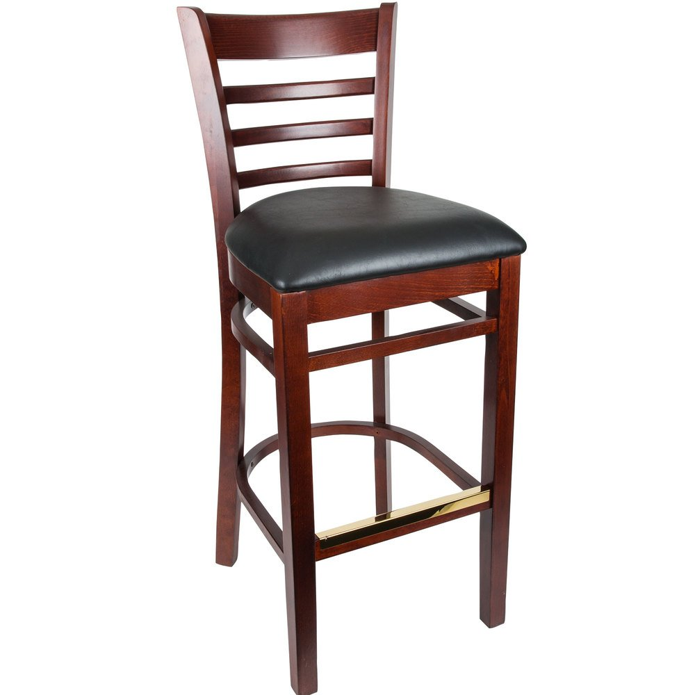 Lancaster table seating mahogany ladder back bar height