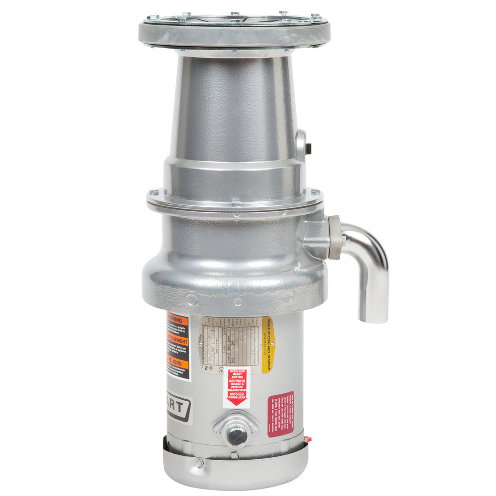 Hobart FD4/50-2 Commercial Garbage Disposer with Long Upper Housing - 1/2 hp, 208-240/480V Scratch and Dent