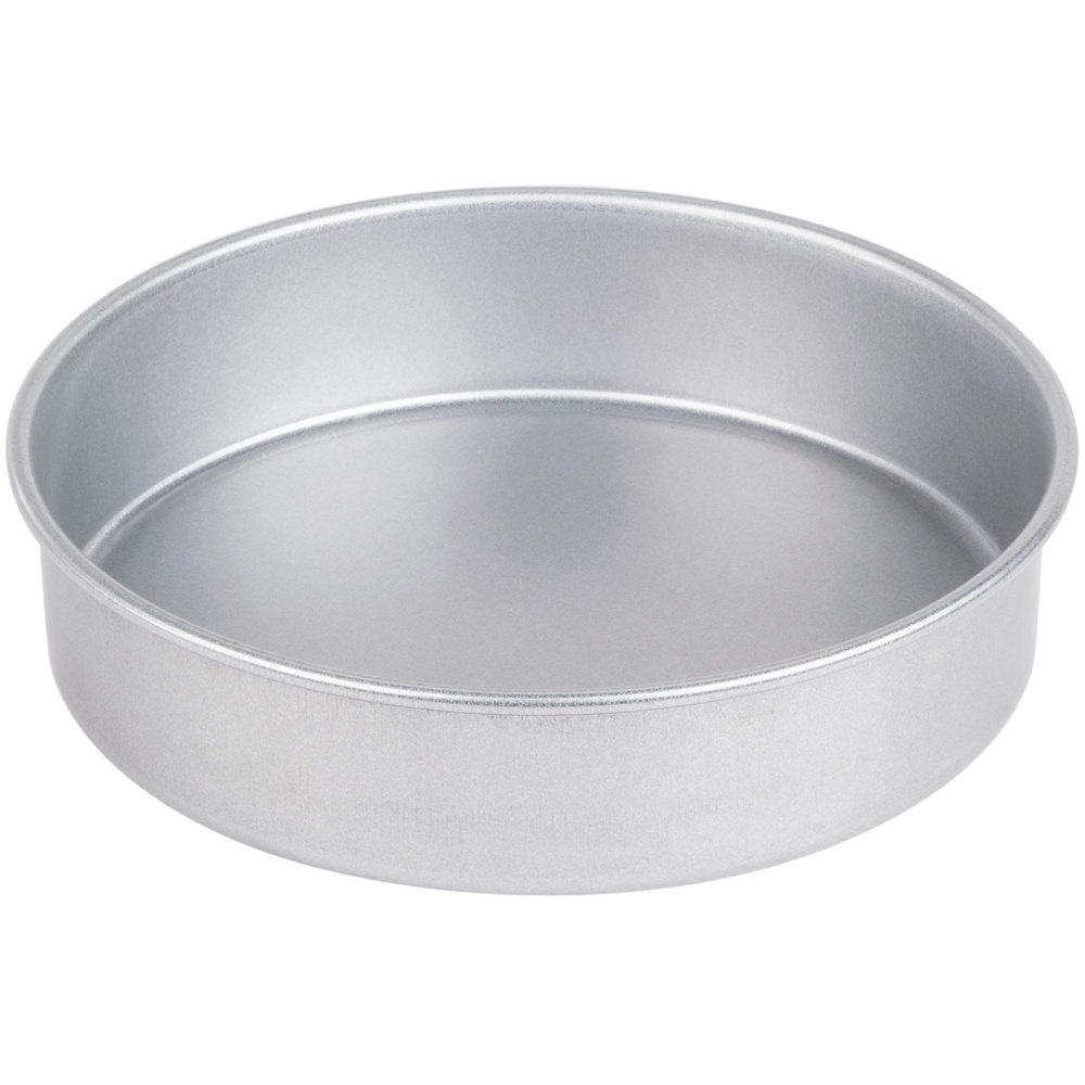 8 Quot X 2 Quot Round Coated Aluminized Steel Straight Sided Cake