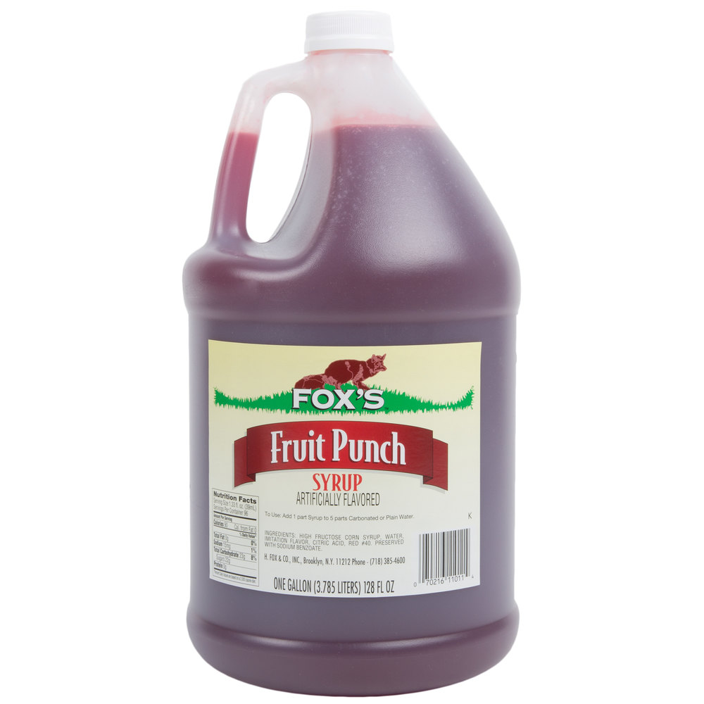 Fox S Fruit Punch Concentrate 1 Gallon