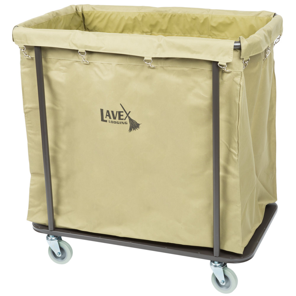 Lavex Laundry Cart Trash Cart 14 Bushel Metal Frame
