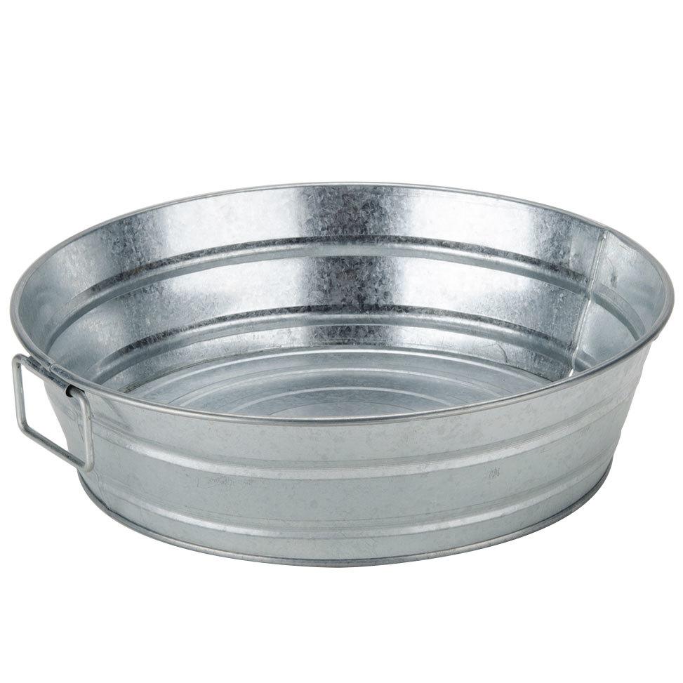 american metalcraft mtub12 12 x 3 round galvanized metal tub