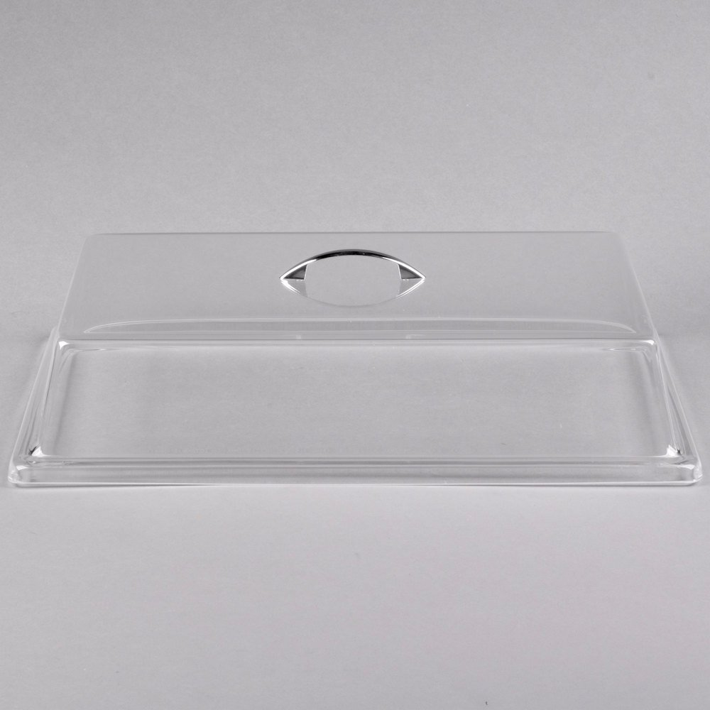 "Cal-Mil 327-12 Clear Standard Rectangular Bakery Tray Cover - 12"" x 20"" x 4"""