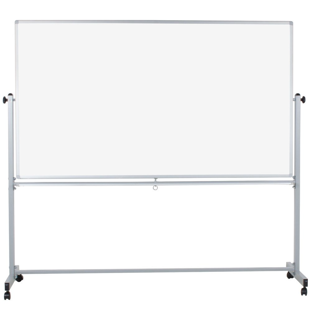 "Luxor MB7240WW 72"" x 40"" Double-Sided Whiteboard with ..."