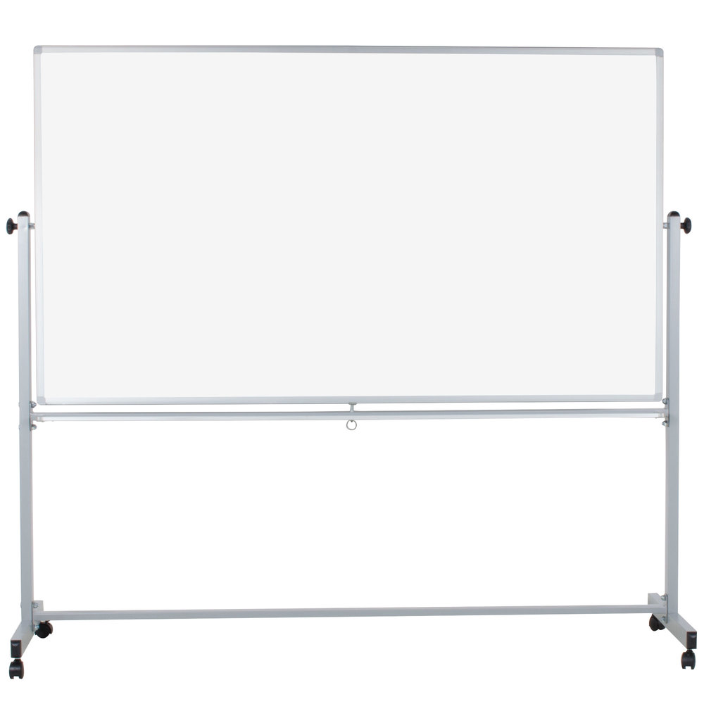 luxor mb7240ww 72 x 40 double sided whiteboard with. Black Bedroom Furniture Sets. Home Design Ideas