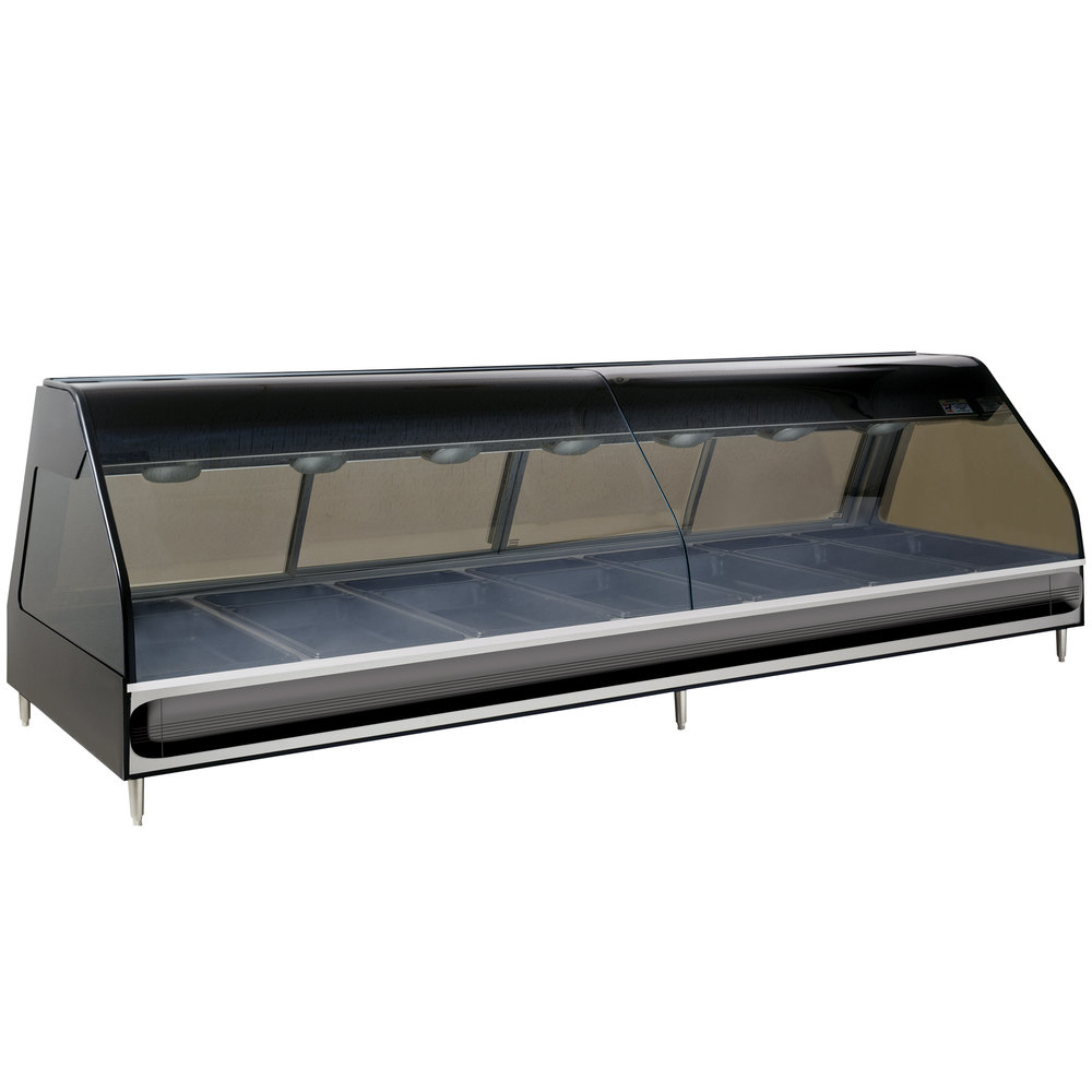 Alto-Shaam ED2-96 SS Stainless Steel Heated Display Case with Curved Glass - Full Service 96""
