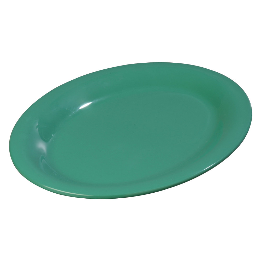 "Carlisle 3308209 Sierrus 12"" x 9 1/4"" Meadow Green Oval Platter - 12/Case"