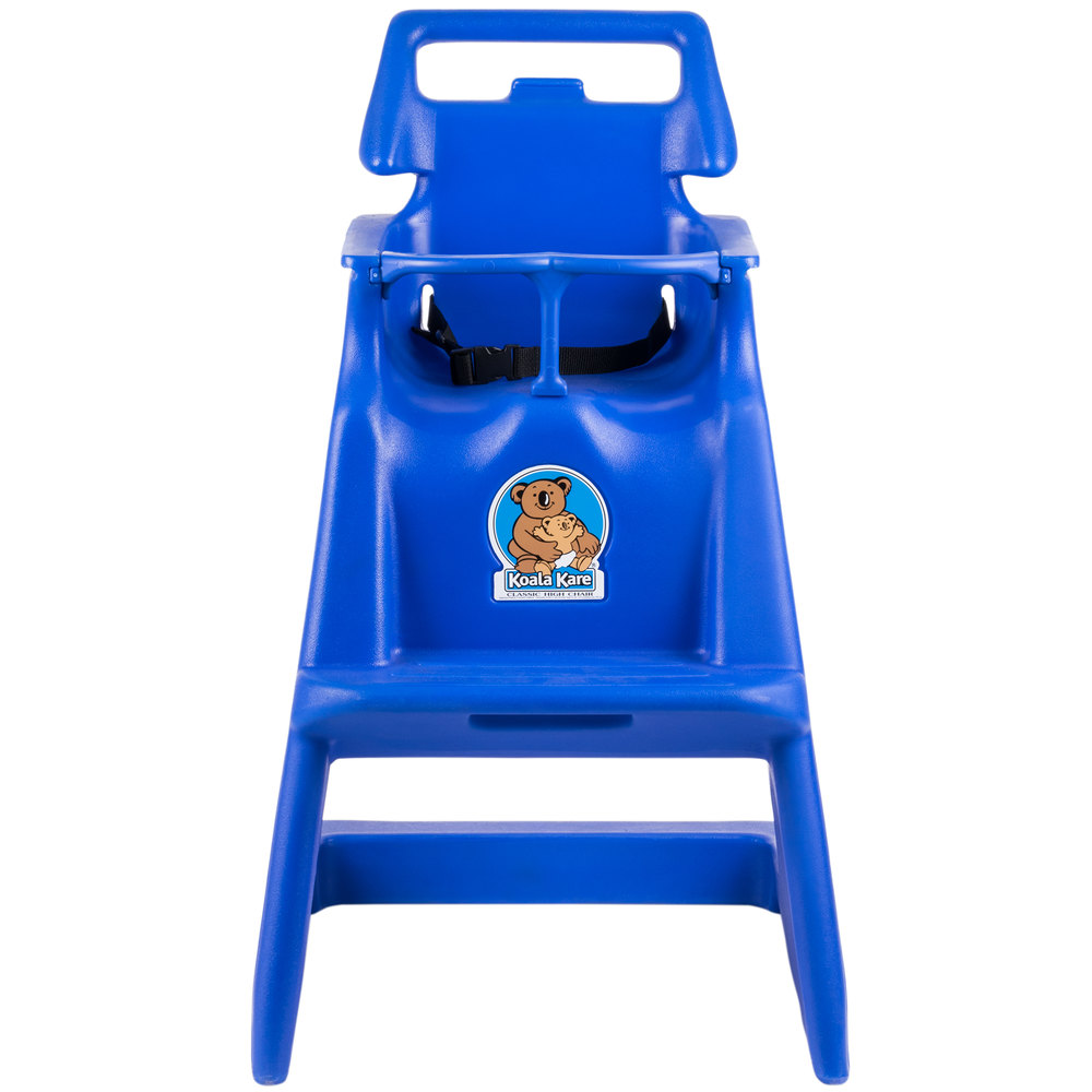 Koala Kare KB103-04 Blue Classic High Chair with Wheels