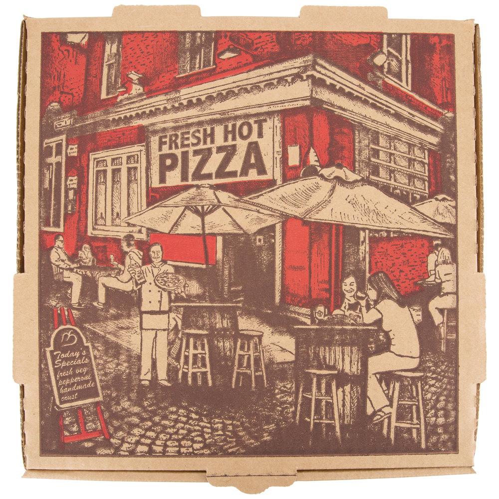 10 Quot X 10 Quot X 1 3 4 Quot Kraft Corrugated Pizza Box 50 Case