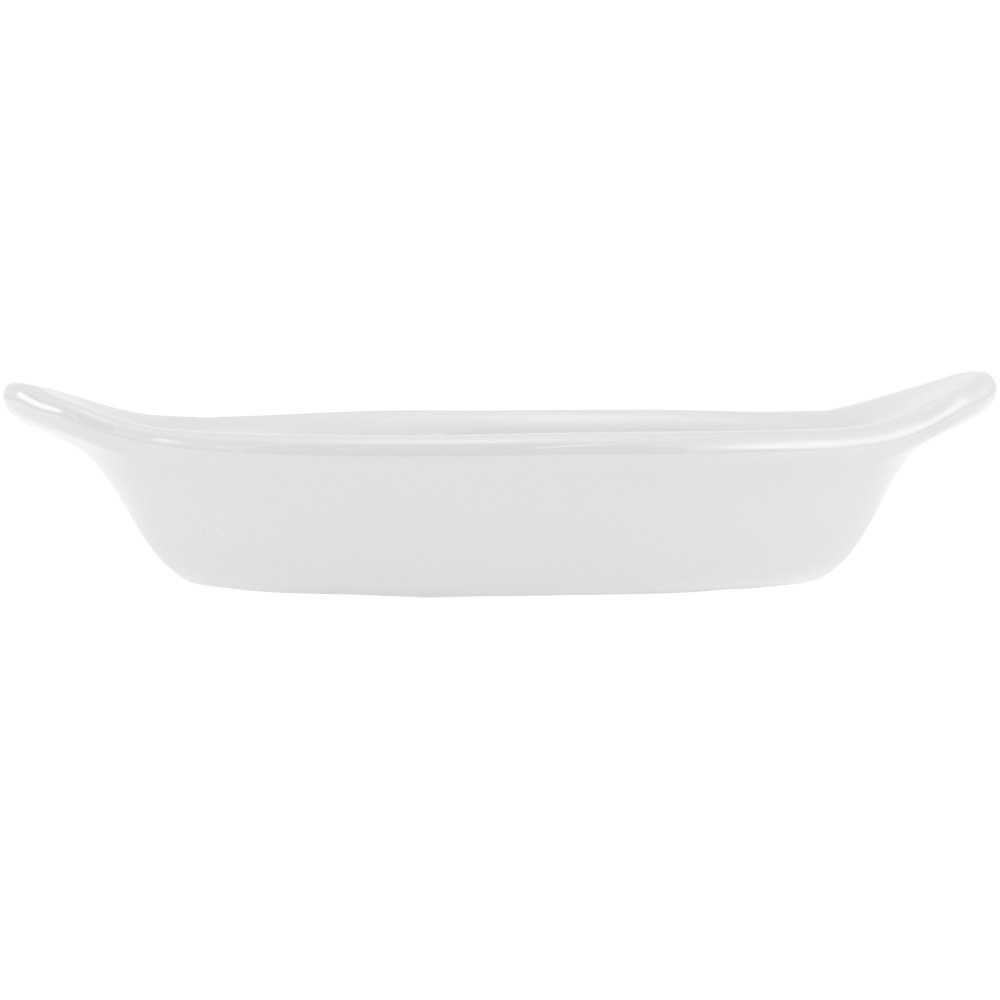 Hall China 5280AWHA White 12 oz. Oval Rarebit / Au Gratin Dish - 24/Case