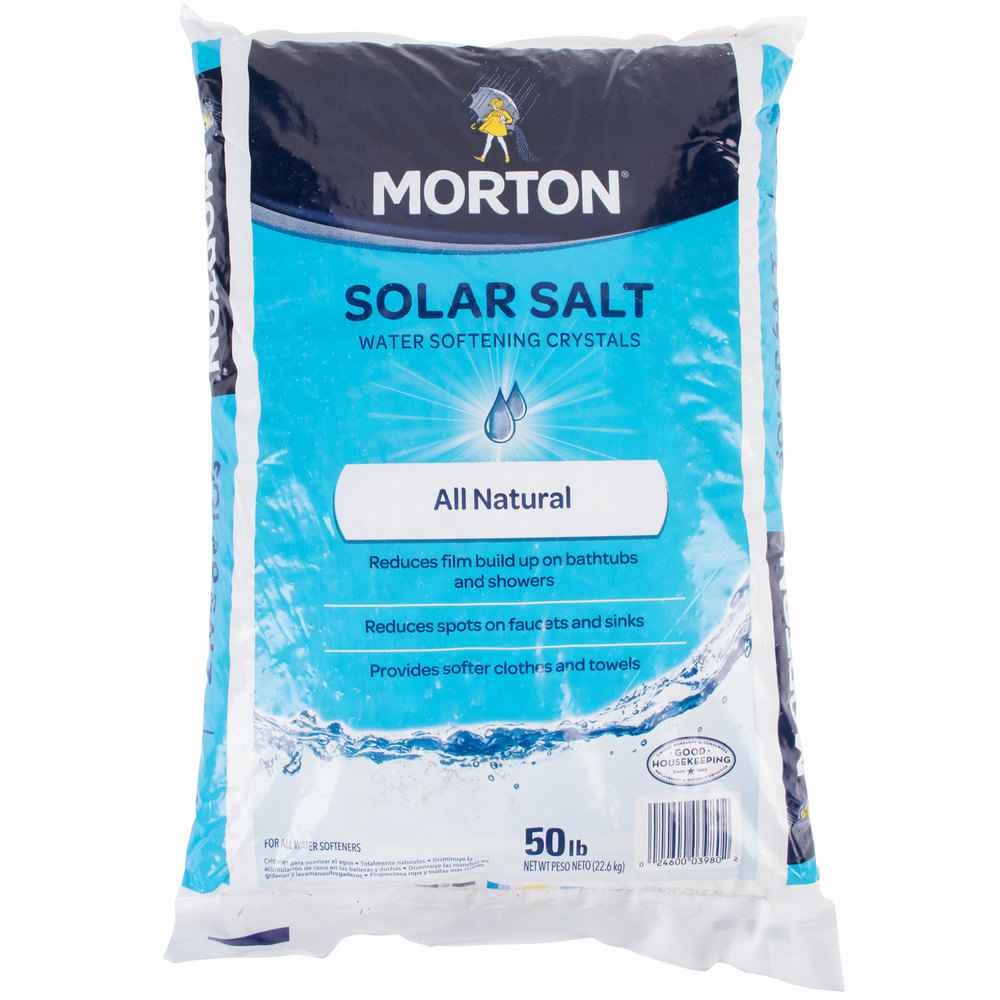 Morton Solar Salt Water Softening Crystals 50 Lb