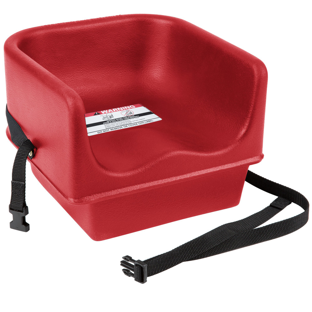 Cambro 100bcs158 Hot Red Plastic Booster Seat Single