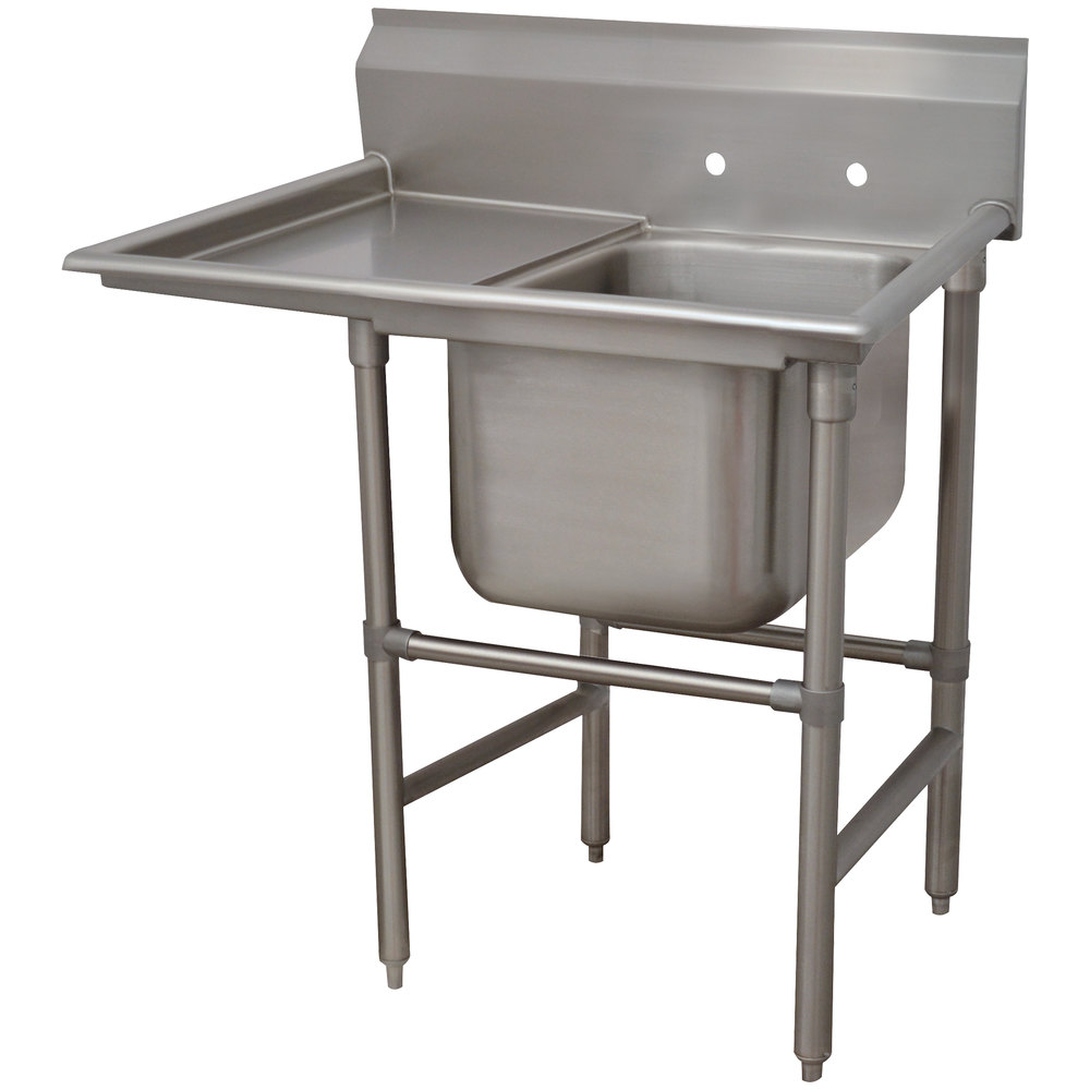 Advance Tabco 94-1-24-24 Spec-Line One Compartment Pot Sink with One Drainboard - 46""