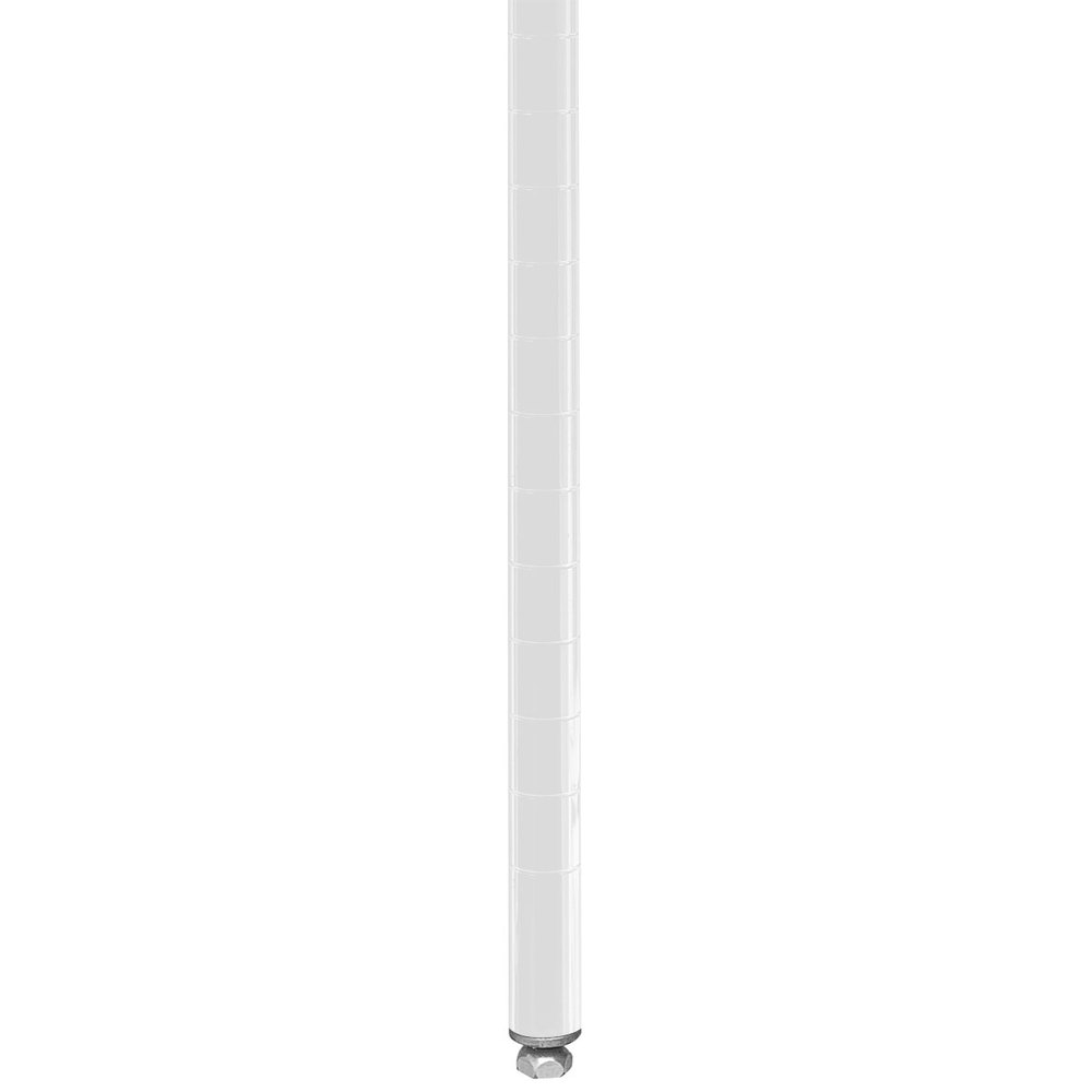 "Metro 74PW Stationary Super Erecta 74"" Post - White Finish"