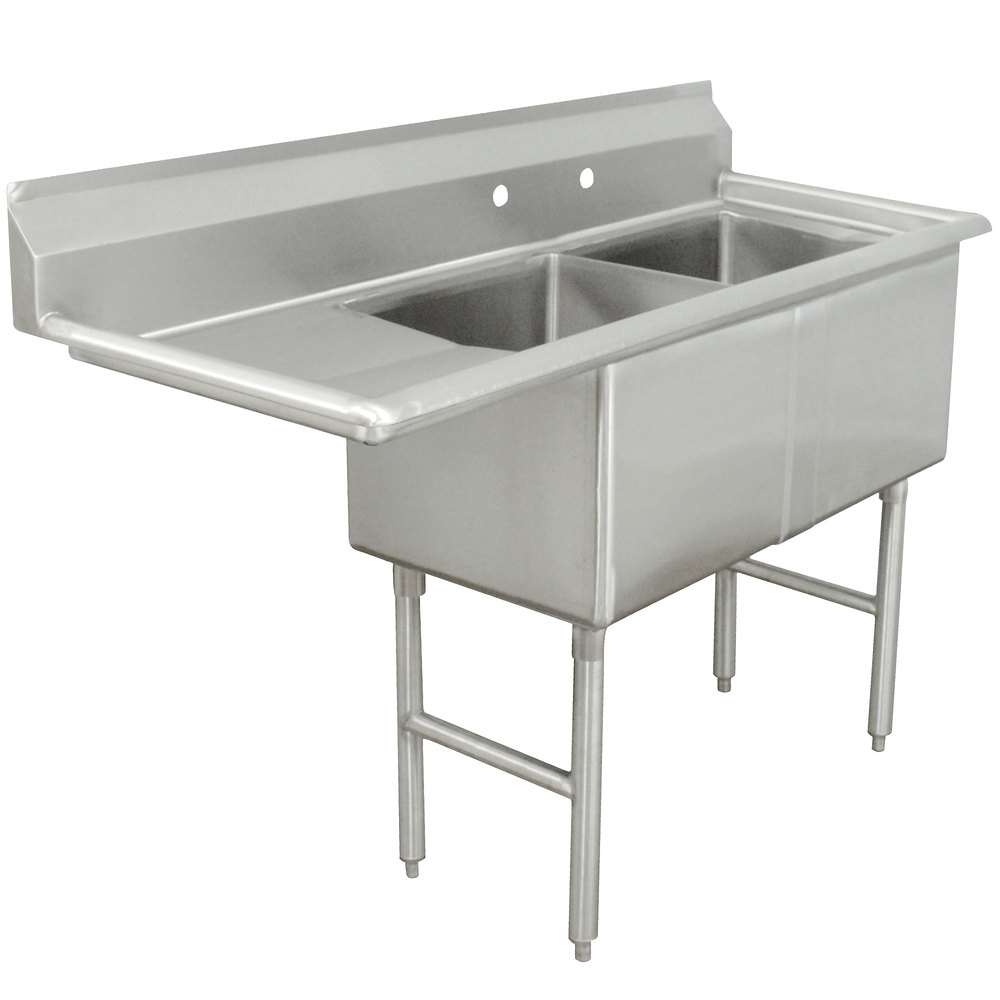 Advance Tabco Fc 2 1818 18 Two Compartment Stainless Steel