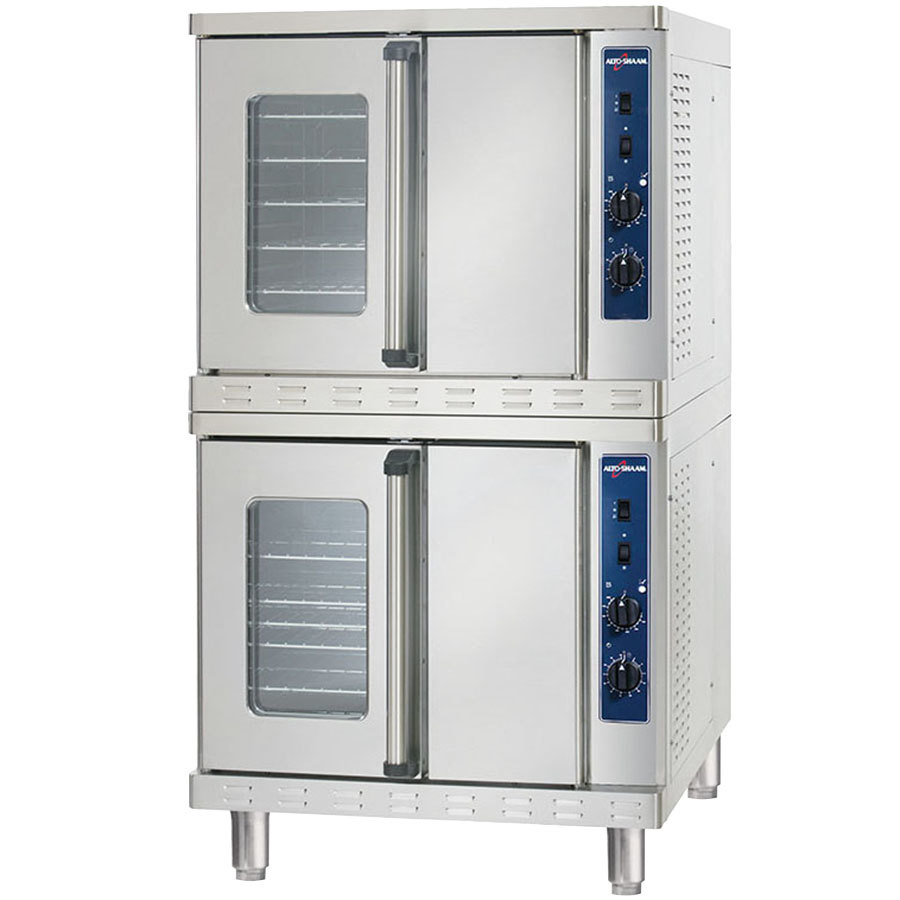 Alto-Shaam ASC-4EST Platinum Series Stacked Full Size Electric Convection Oven with Manual Controls - 10400W