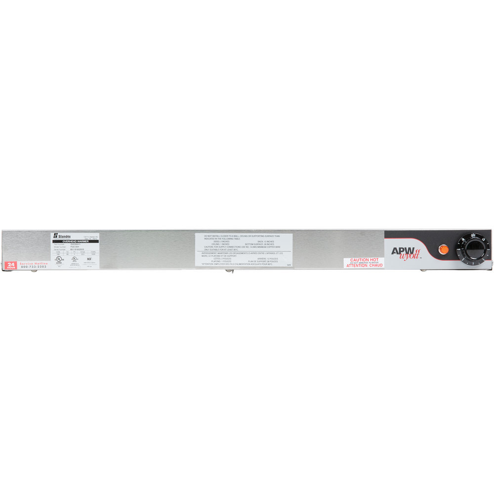 "APW Wyott FDD-66H-T 66"" High Wattage Calrod Double Food Warmer with Toggle Controls - 3600W"