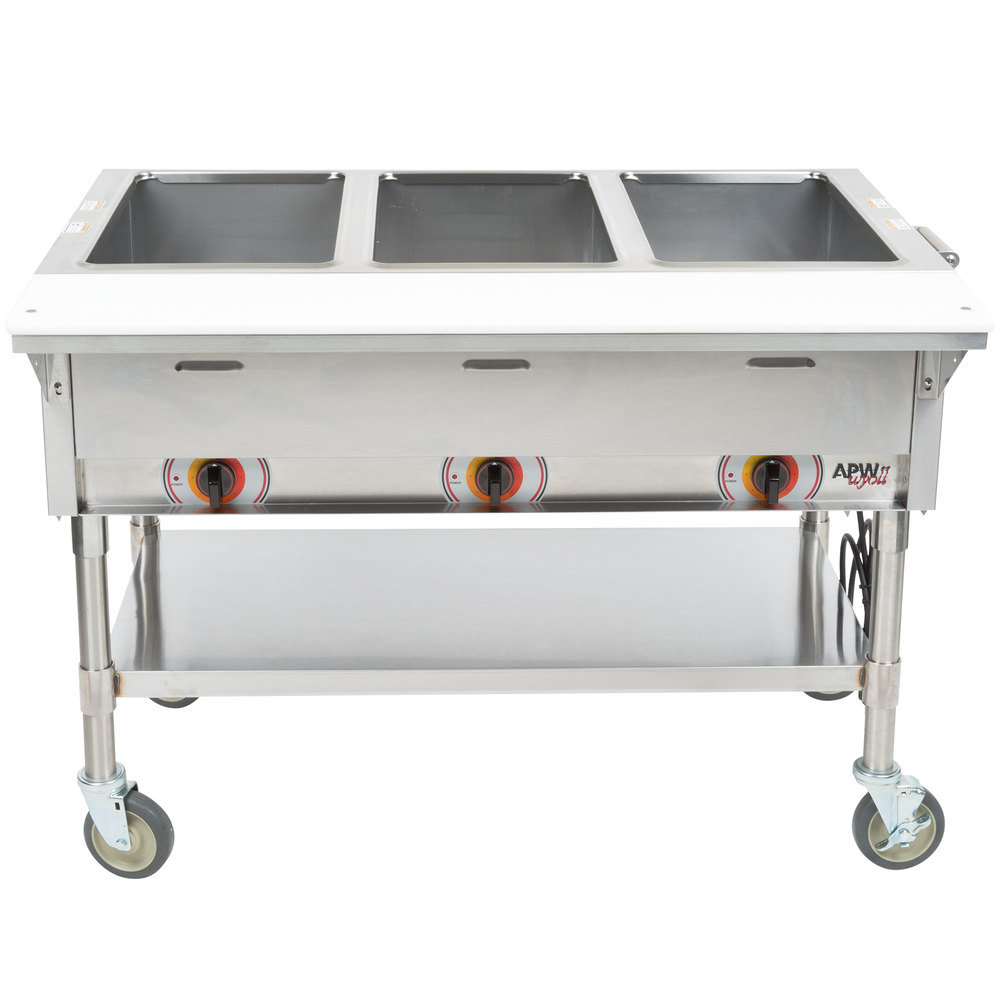 Portable Table Steamer Nokia Universal Portable Usb Charger Dc 16 Portable Charger Virgin Atlantic Portable Kitchen Island Bench Perth: APW Wyott PSST3S Portable Steam Table