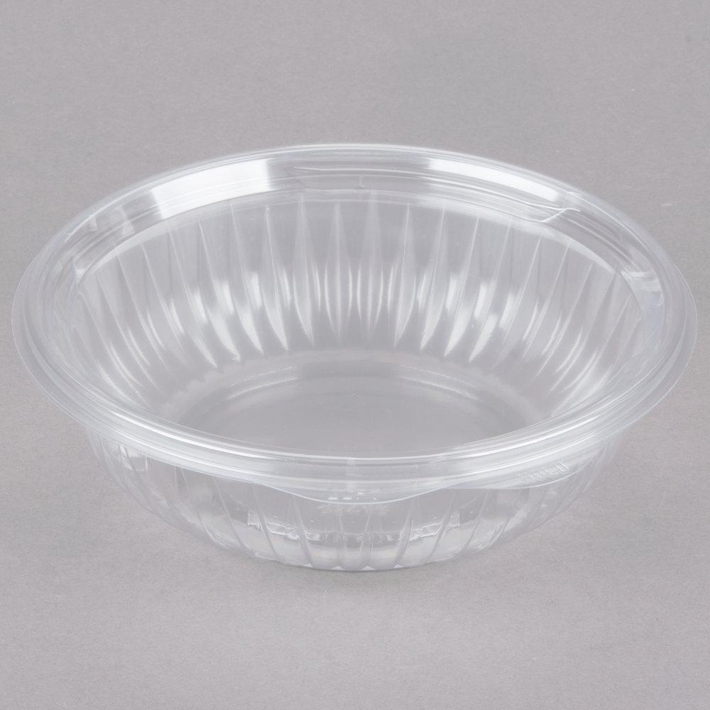 dart c24hbf presentabowls 24 oz clear hinged plastic bowl with flat lid 150 case. Black Bedroom Furniture Sets. Home Design Ideas