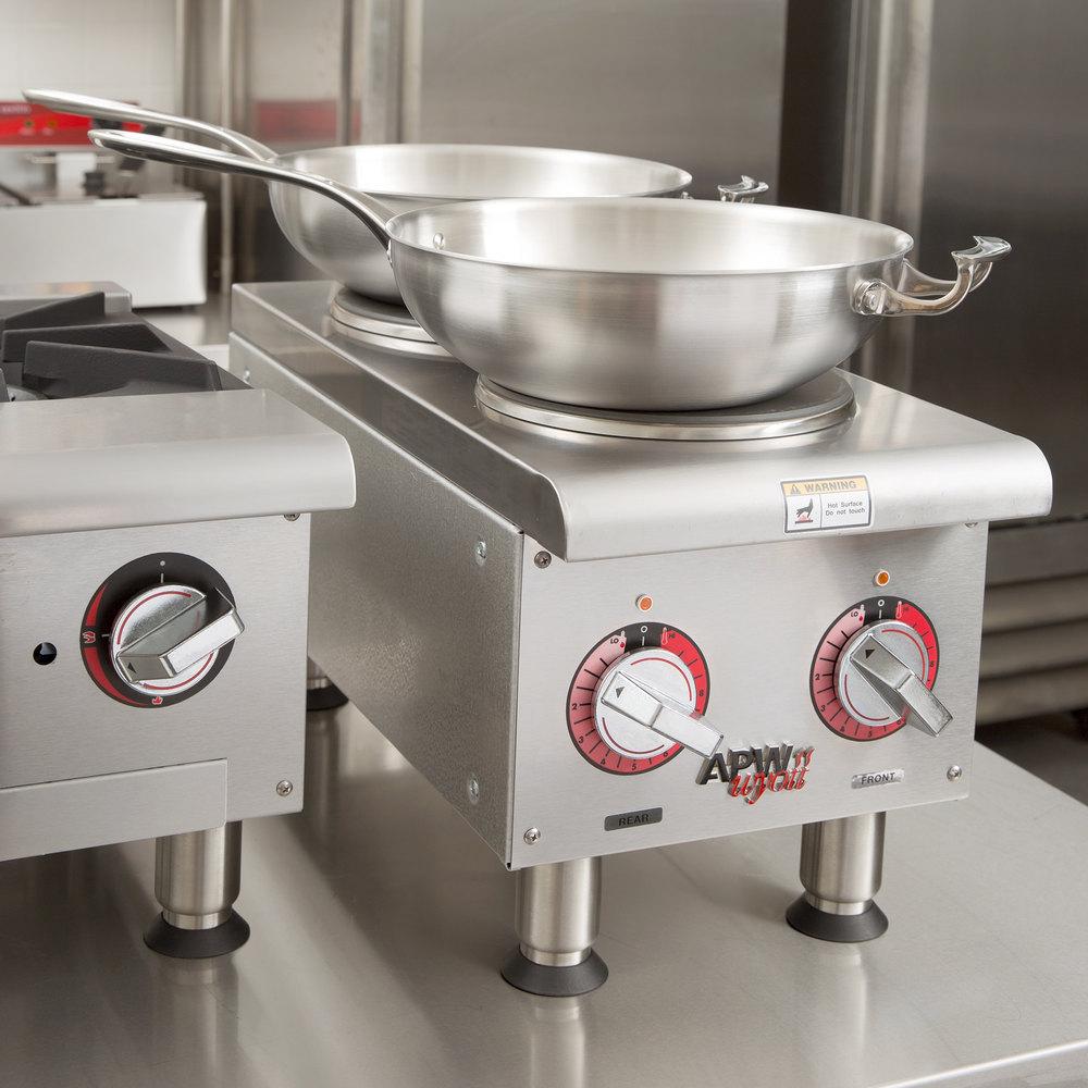 Countertop Burner : APW Wyott SEHPi Dual Solid Burner Countertop Electric Range