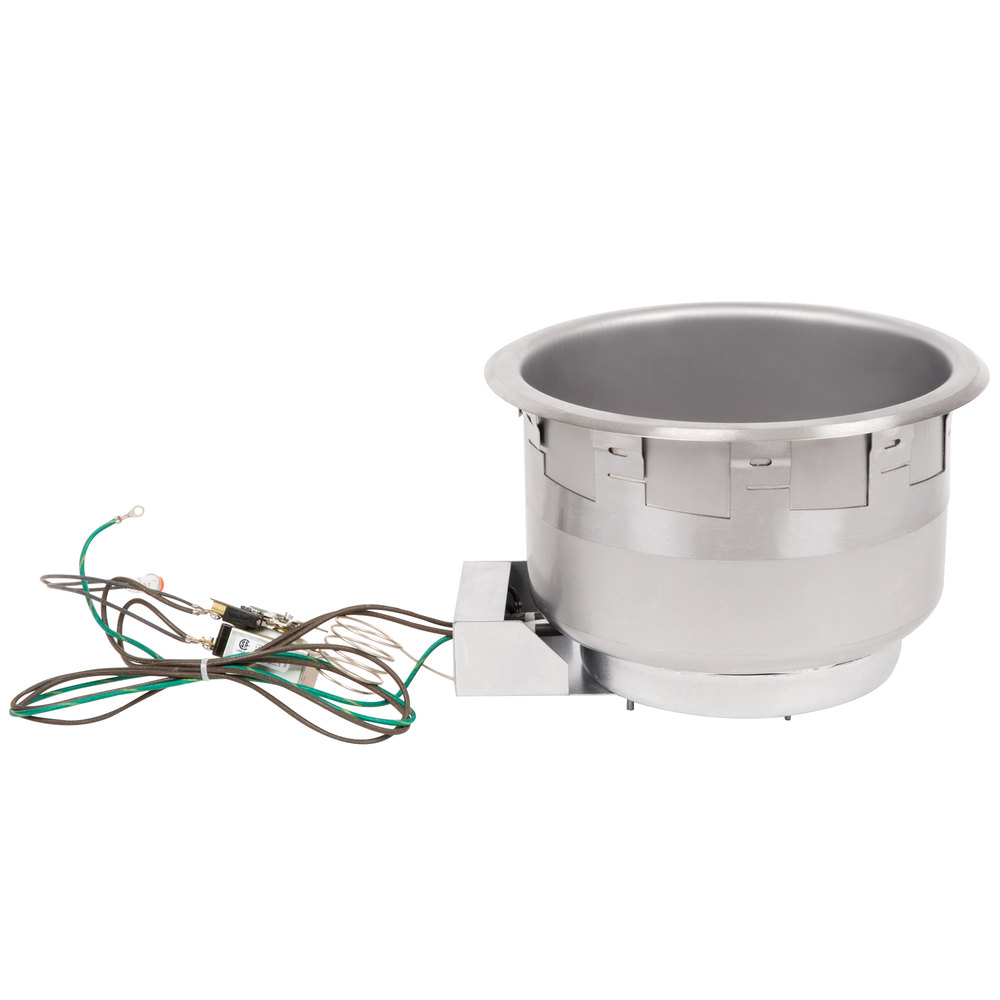 APW Wyott SM-50-11D 11 Qt. Round Drop In Soup Well with Drain