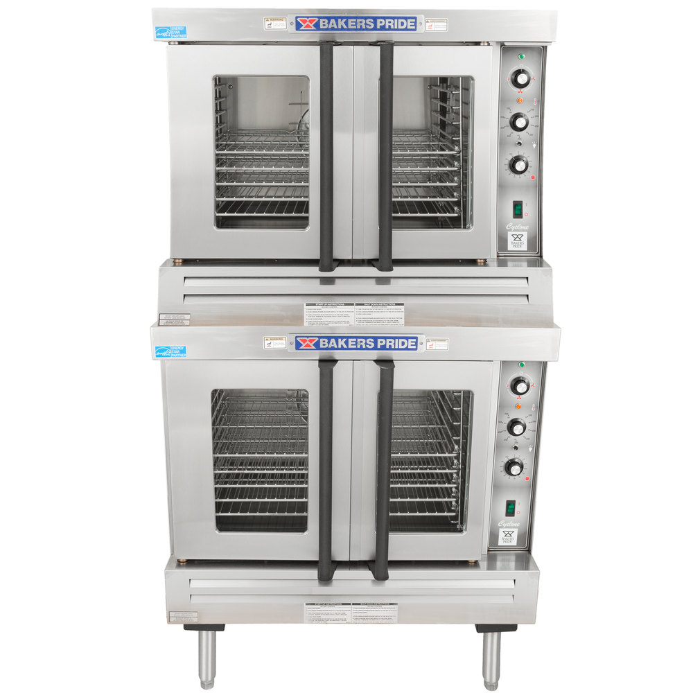 Bakers Pride BCO-E2 Cyclone Series Double Deck Full Size Electric Convection Oven - 10500W
